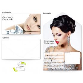 Gutschein Schmuck und Juwelen - Frau mit Diamant