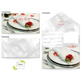 Gutschein Gastronomie - Rosenbesteck