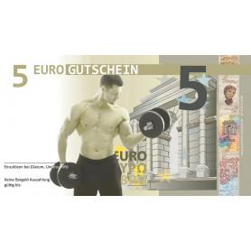 EURO-Gutschein Fitnessstudio / Bodybuilding Mann Hantel