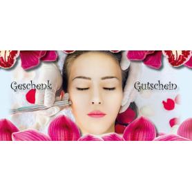 Gutschein Kosmetik - Anti-Aging Frau Blüten