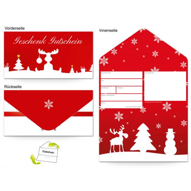 Gutschein Feiertage - Weihnachten Rentier