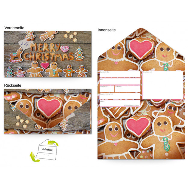 Gutschein Feiertage - Weihnachten Süßes Gebäck