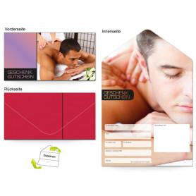 Gutschein Massage & Wellness - Mann entspannt