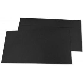 Briefumschläge, DIN-lang - schwarz
