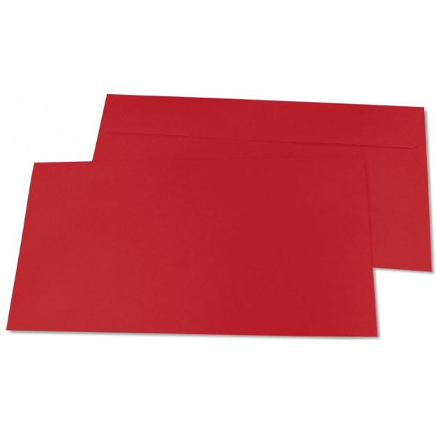 Briefumschläge, DIN-lang - rot