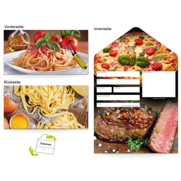 Gutschein Gastronomie - Pasta und Fleisch (1000 Stk.)