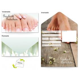 Gutschein Kosmetik - Fußpflege Füße natur