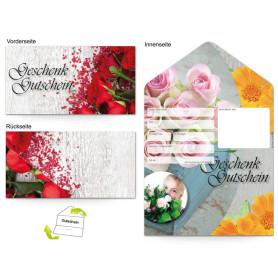 Gutschein Floristik - Rosenstrauß