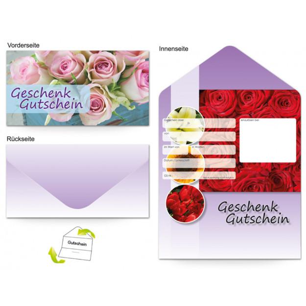 Gutschein Floristik - Rosenblüten