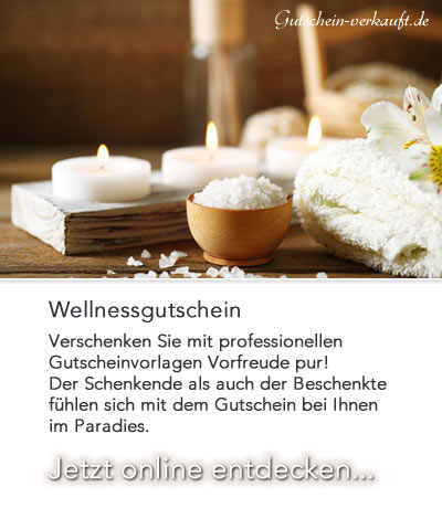 Wellness gutschein vorlage  wellnessgutschein vorlagen Archive - Gutscheinvorlagen POS-Marketing